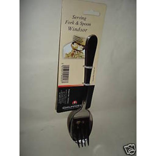 New Windsor Stainless Steel Serving Fork And Spoon Salads