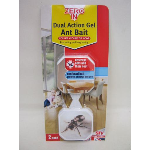 New Zero In Ant Killer Gel Bait Station Box Trap Destroys Ants Pk2 Traps ZER965