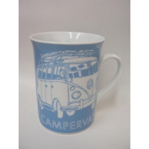 New Volkswagen Surf Sketch Blue Campervan Lippy Mug Licensed VW