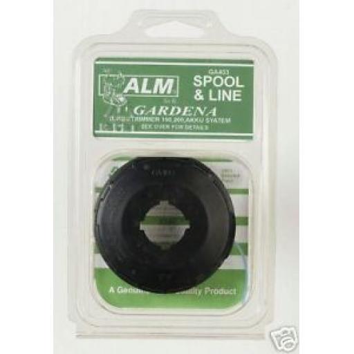 New ALM Spool & Line Gardena Akku System Turbotrimmer GA403