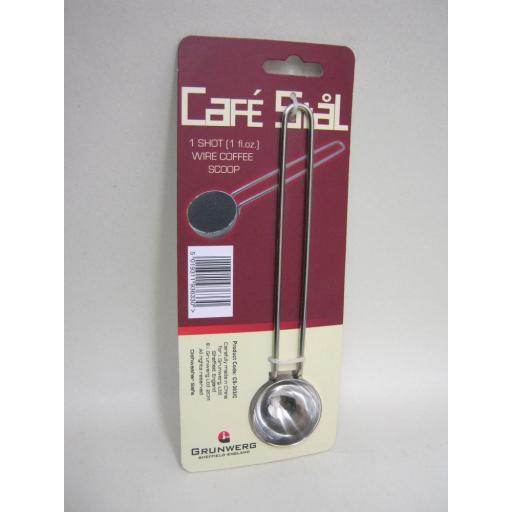 New Grunwerg The Stal Stainless Steel 1 Shot Wire Coffee Scoop 1floz