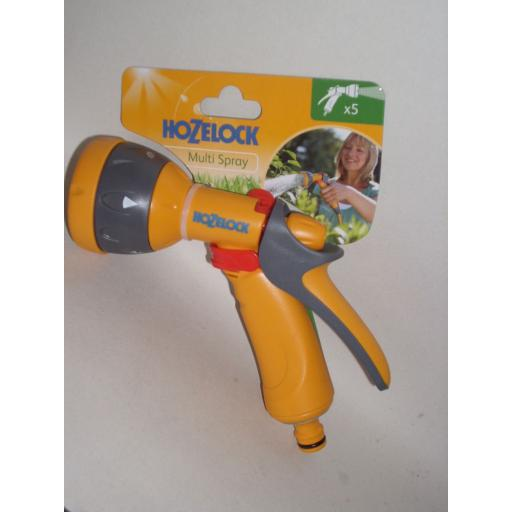 New Hozelock Water Multi Spray Jet Sprayer Gun For Garden Hose Pipes 2676