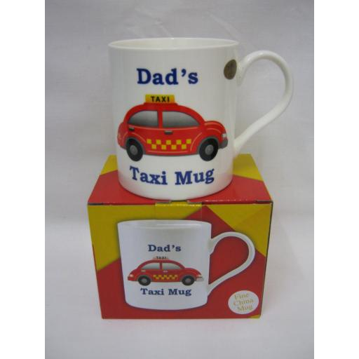 New Lesser And Pavey Fine Bone China Mug Beaker Coffee Tea Cup Dad's Taxi