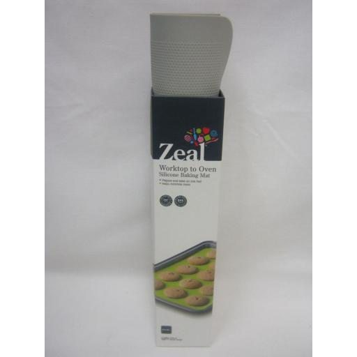 New Zeal Worktop To Oven Non Stick Silicone Baking Mat Sheet N171S Slate Grey