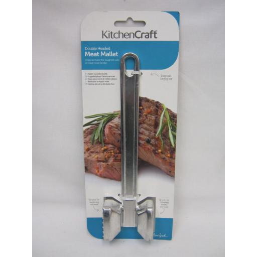 New Kitchen Craft Meat Tenderiser Steak Mallet Hammer Metal KCMEAT