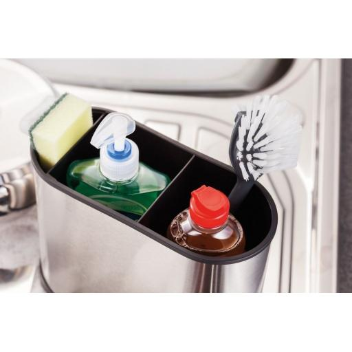 New Stellar Oblong Kitchen Sink Tidy Caddy Brushed Stainless Steel SK10