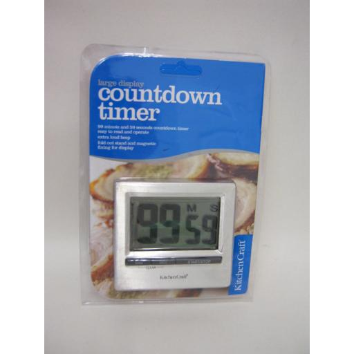 New Kitchen Craft Large Digital Display Countdown Timer KCJUMBOCP