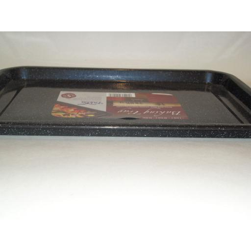 New Falcon Enamel Heavy Duty Oblong Oven Baking Tray Tin Swiss Roll Black Lge 38