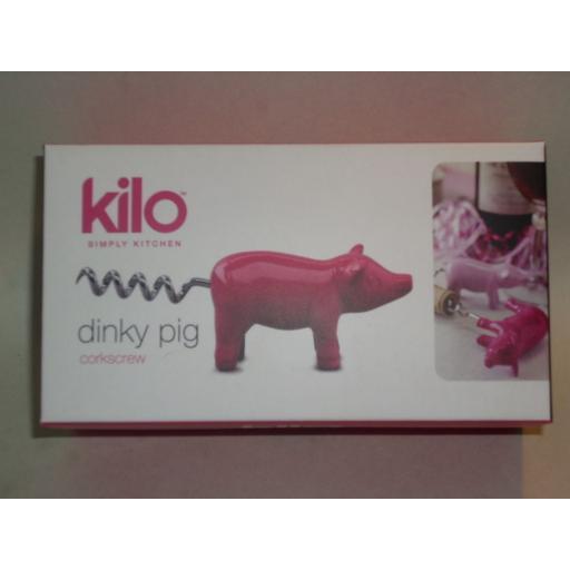 New Dinky Pig Wine Bottle Corkscrew Heavy Metal Pink Cork Screw G93
