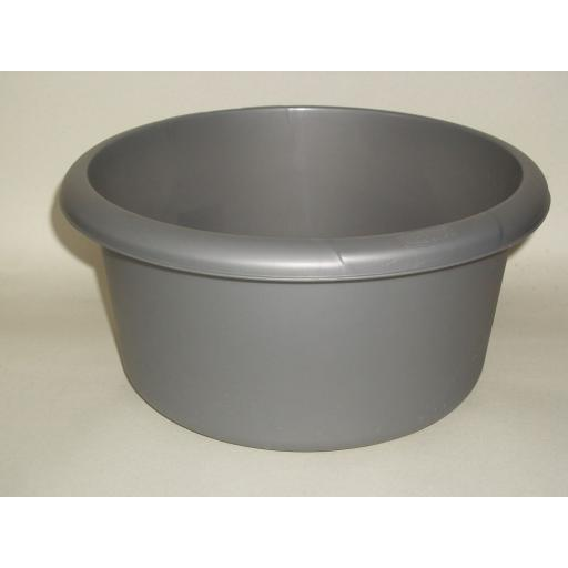 New Whitefurze Round Plastic Washing Up Bowl 26cm Small Silver