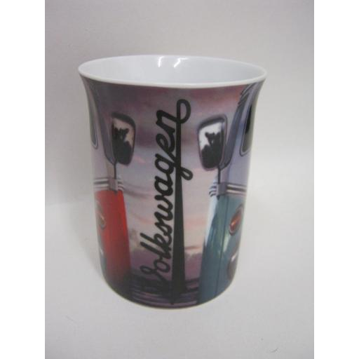 New Volkswagen Photographic Lippy Mug Two Campers On Beach Splitty Licensed VW