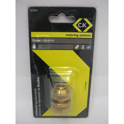 New CK Watering Systems Hose Repair Connector Brass G7924