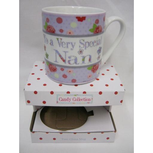 New Fine Bone China Mug Beaker Coffee Tea Cup Mug To A Very Special Nan