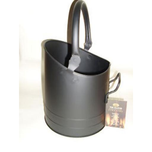 New Manor Black Coal Scuttle Bucket Hod Flanders 1334