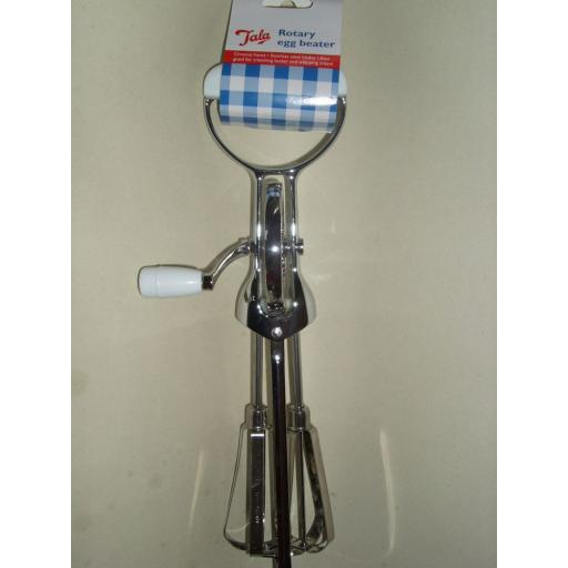 New Tala Rotary Egg Cream Beater Whisk Stainless Steel Blades 7207