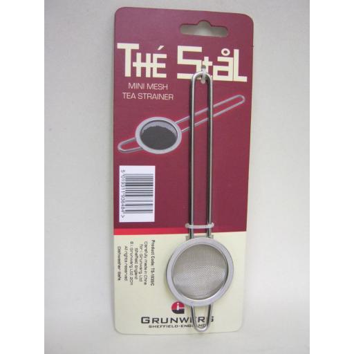 New Grunwerg The Stal Stainless Steel Mini Mesh Tea Strainer