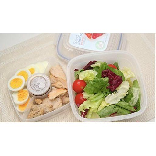 New Lock and & Lock Clear Plastic Food Salad Lunch Box Container 950ML HSM8440T