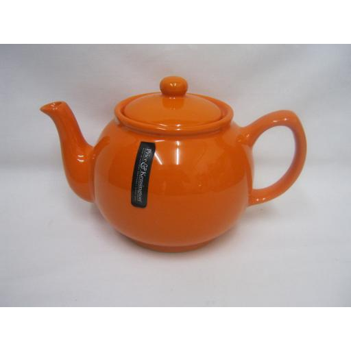 New Price And Kensington Pot Teapot 6 Cup Tea Pot 0056.758 Orange