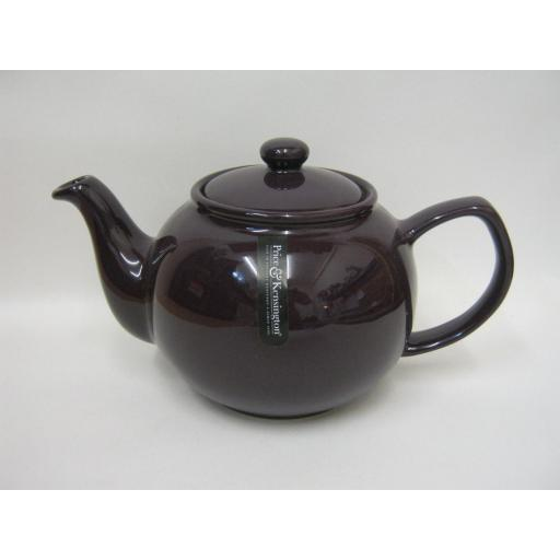 New Price And Kensington Pot Teapot 6 Cup Tea Pot 0056.770 Berry / Dark Plum