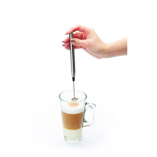New Kitchen Craft Le Xpress Hand Held Deluxe Battery Latte Milk Frother Stainles