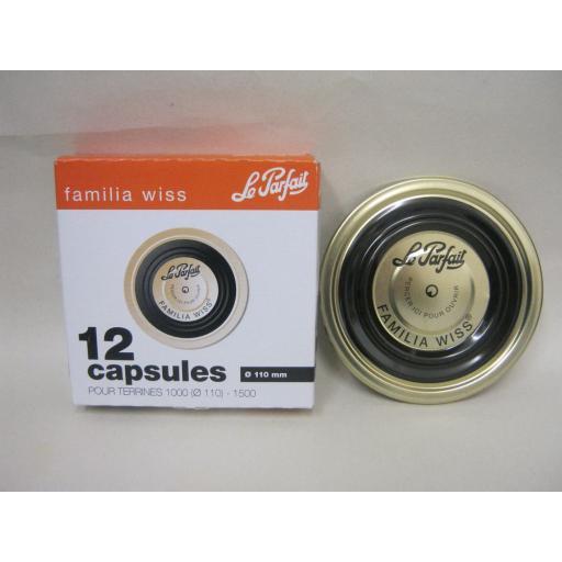 New Le Parfait Metal Lids Discs Kilner Pickling Pk12 110mm