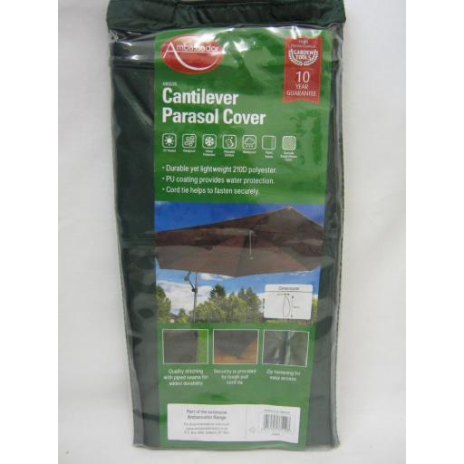 New Ambassador Canterliver Garden Parasol Cover Green ABGC20