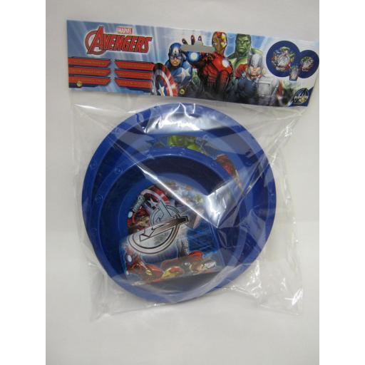 New Boyz Toys Marvel Avengers Kids Childrens Plastic 3 Piece Dinner Set 53110