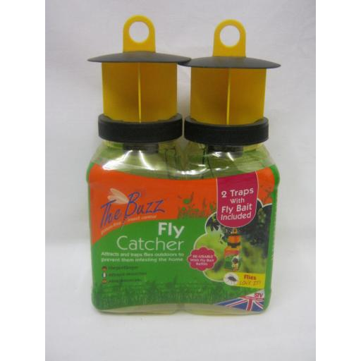 New STV The Buzz Fly Trap Catcher Killer Kills Flies Jars Bottles Pk2 STV336