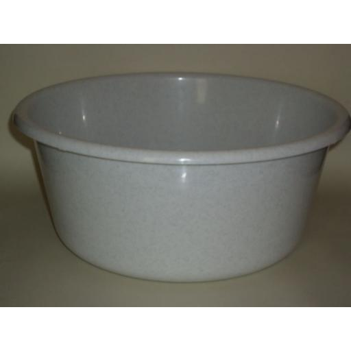 """New Lucy Granite Large Round Plastic Washing Up Bowl 35cm 14"""" Slight Seconds"""
