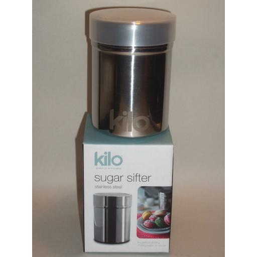New Kilo Stainless Steel Sugar Flour Chocolate Shaker Fine Mesh N107
