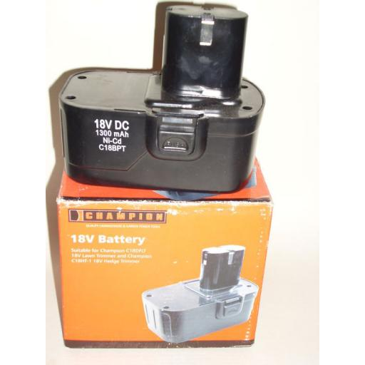 New Champion Replacement 18v1.3Ah Lawn Hedge Battery C18BPT