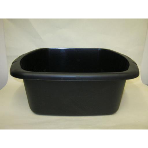 """New Whitefurze Plastic Washing Up Bowl 37cm 14 1/2"""" Large Oblong Black"""
