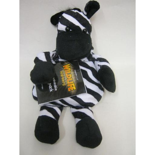 New Wildlife Warmers Microwaveable Wheat And Lavender Pack Zebra