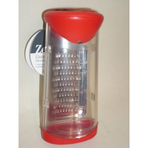 New Zeal Grate And Shake Cheese Parmasan Grater Dispenser Red H29