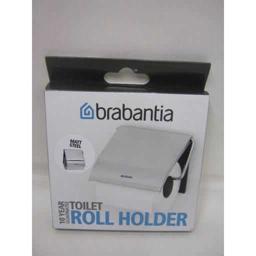 New Brabantia Toilet Roll Holder Matt Steel 10 Year Guarantee 385322