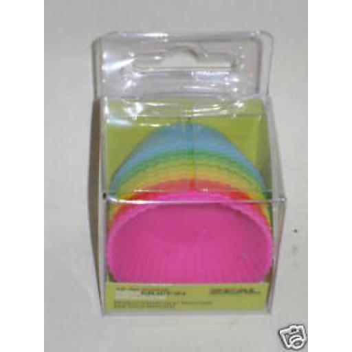 New Cks Zeal Non Stick Silicone Bun Mini Muffin Cases Pk 12 J231