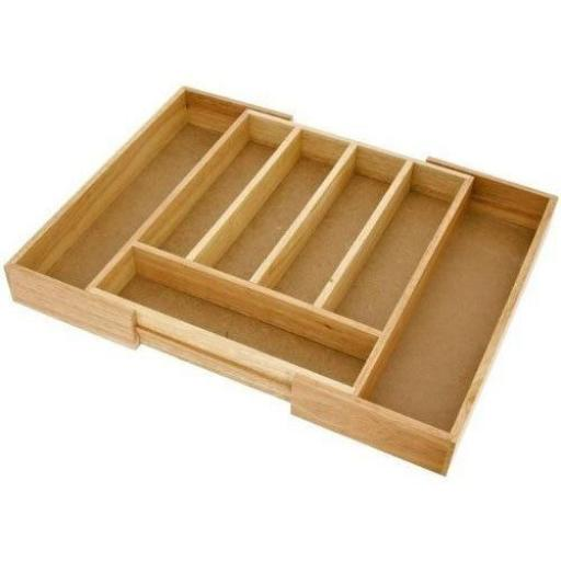 New Judge Extending Wood Cutlery Tray Box Wooden Organiser Draw Insert TC258