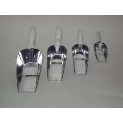 New Cks Kilo Aluminium Metal Food Measuring Scoops Pk 4 M140