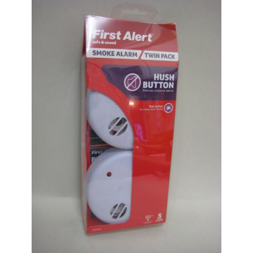 New First Alert Smoke Fire Alarm Detector General Purpose Twin Pack 2
