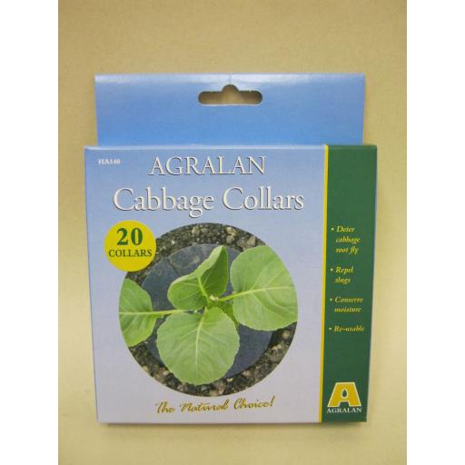 New Agralan Cabbage Collars Deter Cabbage Root Fly Pk20 HA140