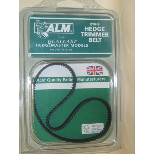 New ALM Drive Belt for Qualcast Hedgemaster Hedge Trimmer FO16-L3674 QT043