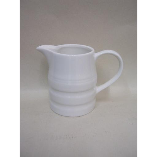 New Bartleet Pot Churn Cream Milk Jug White 1/2 Pint T35