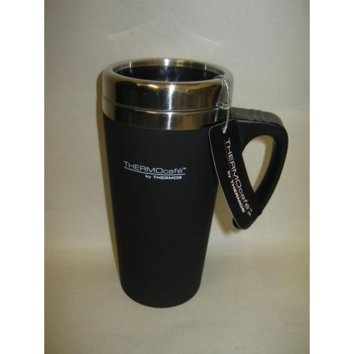 New Thermos Thermocafe Zest Travel Mug Beaker Cup 0.42L Black