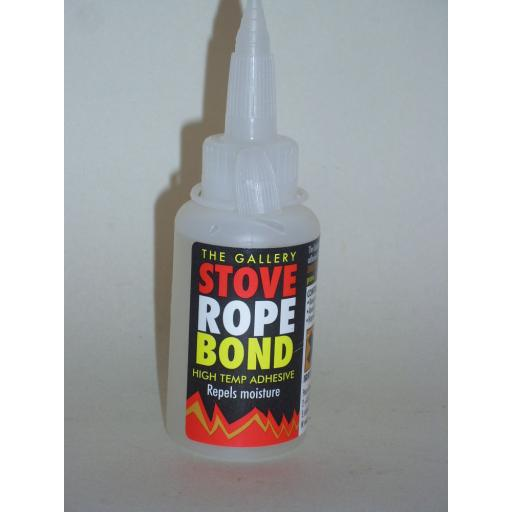 New Fire Stove Rope Bond Glue High Temp Adhesive 50ml