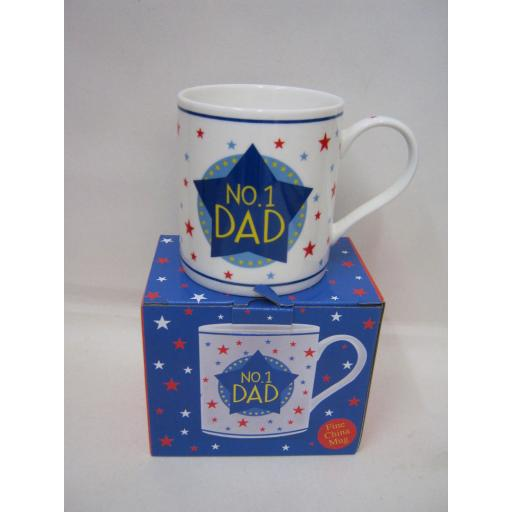 New Fine Bone China Mug Beaker Coffee Tea Cup Mug No 1 Dad