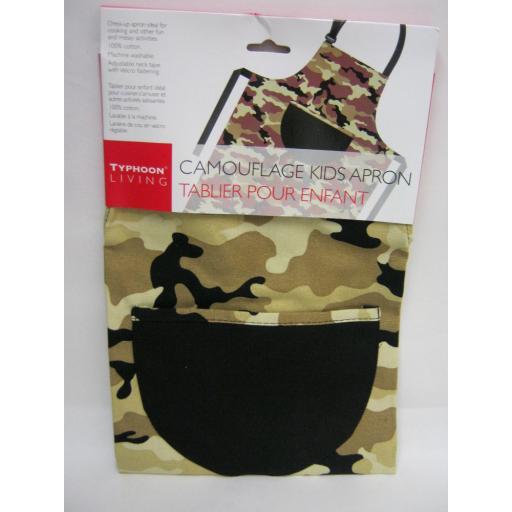 New Typhoon Textile Kitchen Kids Cooking Apron Camouflage Design 800900
