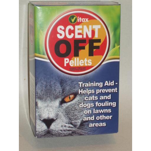 New Vitax Scent Off Pellets Cat And Dog Repellent Deterrent 55g