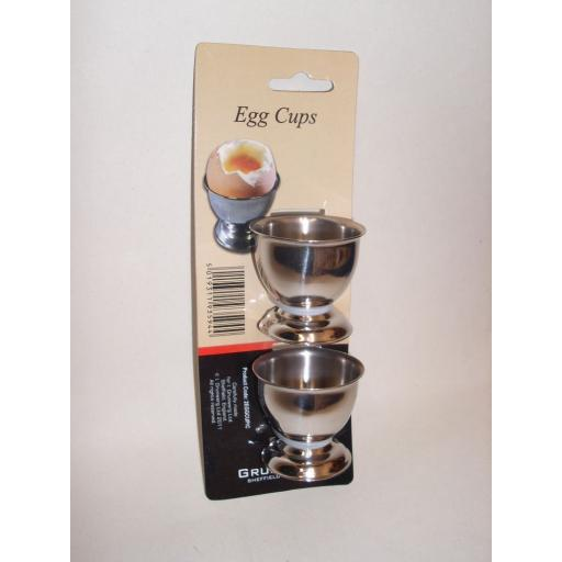 New Windsor Stainless Steel Boiled Egg Cups Pack of 2