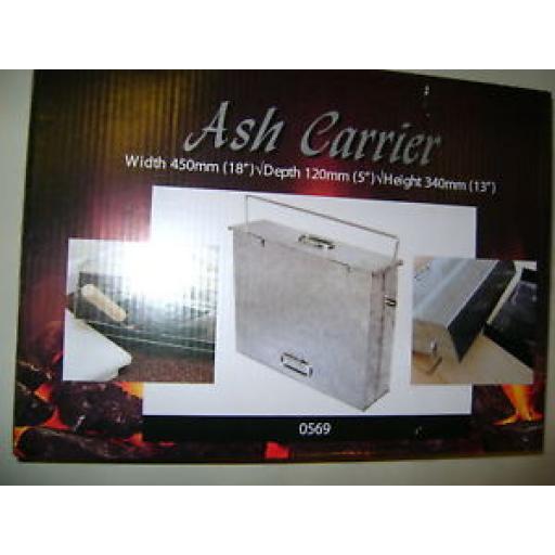 New Manor Galvanised Metal Ash Pan Carrier Coal Fire 0569