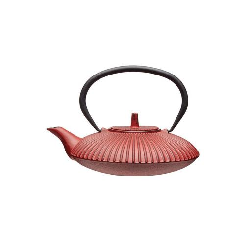 New Kitchen Craft 0.6L Cast Iron Japanese Style Teapot Kettle Red KCLXTEACAST03